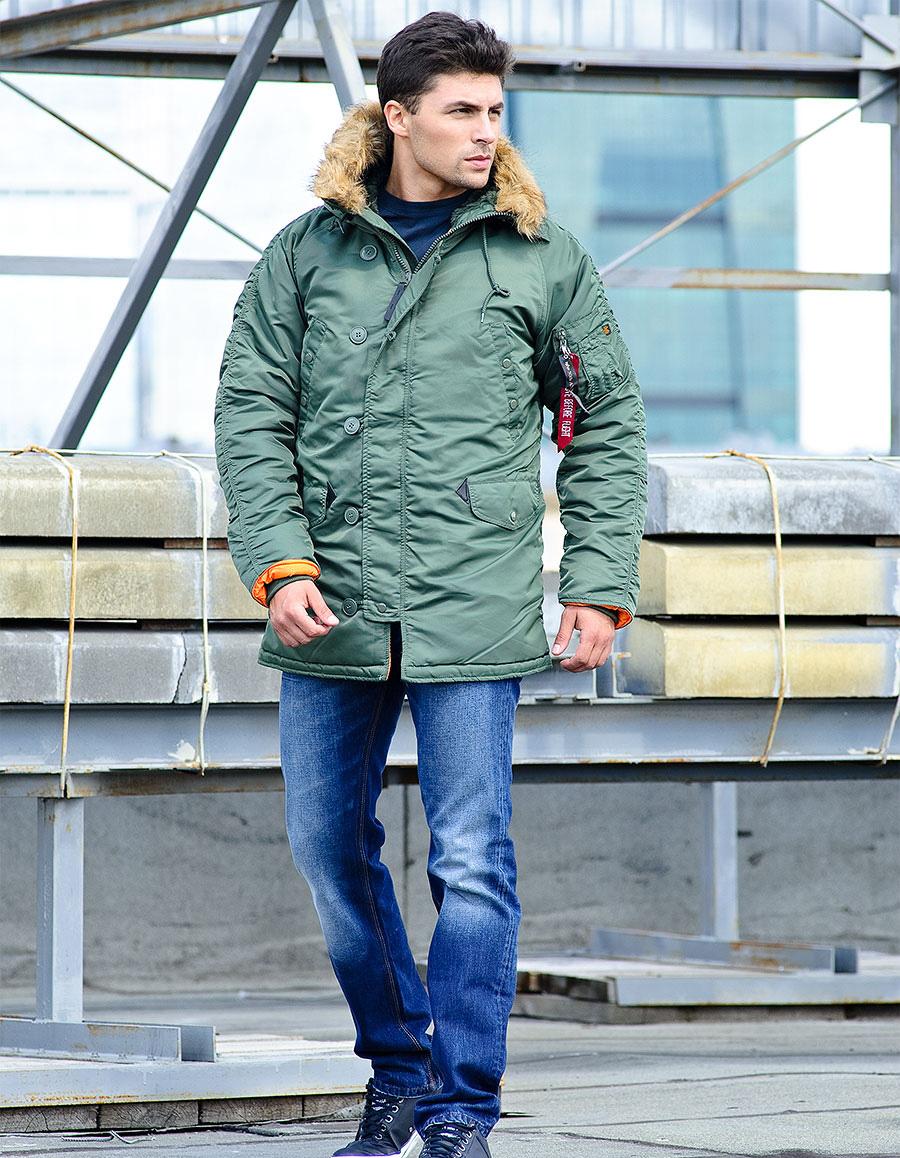 d23b860b Куртки-аляски Alpha Industries, купить мужскую куртку аляска Альфа ...